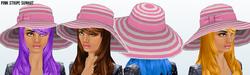 Lusso - Pink Stripe Sunhat