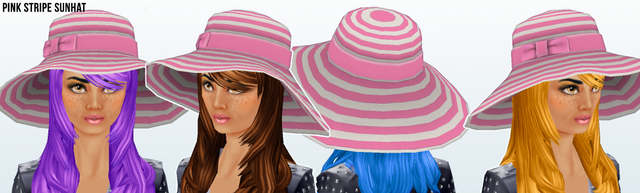 File:Lusso - Pink Stripe Sunhat.png