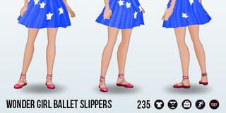 GeekConvention - Wonder Girl Ballet Slippers
