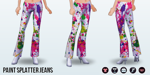 Career - Paint Splatter Jeans