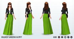 CelebrateGreenerySpreeSpin - Wildest Greens Outfit