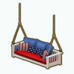 FourthOfJuly - Patriotic Porch Swing