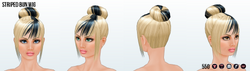 GothGirlSpin - Striped Bun Wig