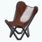 GlampingDecor - Leather Folding Chair
