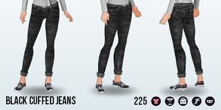BlackFriday - Black Cuffed Jeans