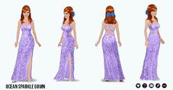 UnderseaSpin - Ocean Sparkle Gown