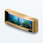 LuxeLifeSpreeSpin - Gold Wall Aquarium