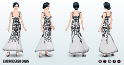 FallRunway - Embroidered Gown
