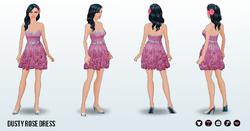 SummerWedding - Dusty Rose Dress