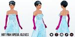 SinglesAwarenessDay - Hot Pink Opera Gloves
