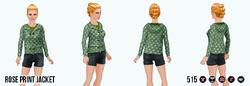 EnglishRoseSpin - Rose Print Jacket green