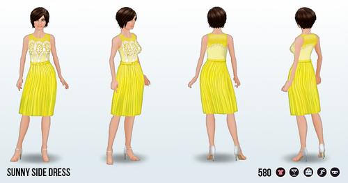 LadiesWhoBrunchSpin - Sunny Side Dress