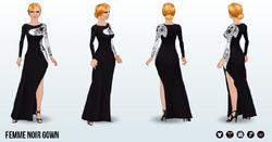 FemmeFatale - Femme Noir Gown