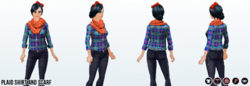 WinterStreetStyleSpin - Plaid Shirt and Scarf