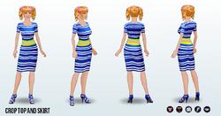 SpringBreak - Crop Top and Skirt