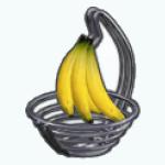 WhiteKitchenDecor - Banana Basket