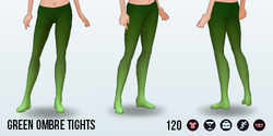 MonsterBash - Green Ombre Tights