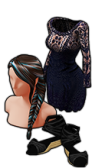 GoldDeal - 150723 - Colorful Fishtail Wig - Black Mini Wedges - Boho Mini Dress