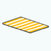 CafeRaffle - Yellow Striped Rug