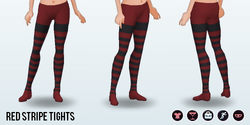 CafeRaffle - Red Stripe Tights