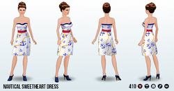 CafeRaffle - Nautical Sweetheart Dress
