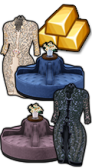 GoldDeal - 170118 - Frost Petal Coat - Lace Coat Dress - Winter Soiree Round Sofa - Romantic Soiree Round Sofa