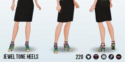 JewelSpin - Jewel Tone Heels