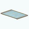 Market - Blue Fringe Rug