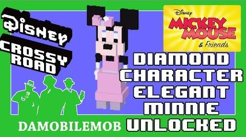 ★ Disney Crossy Road Secret Characters ELEGANT MINNIE (Diamond Character Secret)