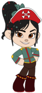 Vanellope as a Pirate Princess with her Pirate Hat