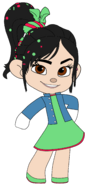 Vanellope's Outfit with left Arm out