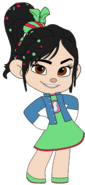 Vanellope's Outfit, Badge and Jean Jacket
