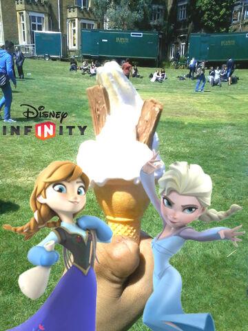 File:Anna & Elsa have a double Flake Ice Cream.jpg