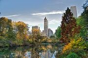240px-Southwest corner of Central Park, looking east, NYC