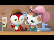 Deputy Peck and Sheriff Callie Playing Nickels