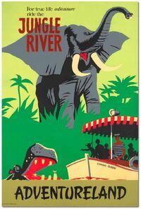 Jungle cruise disneyland poster