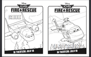 Free-Disney-Planes-Coloring-Pages-Disney-Planes-Fire-Rescue Samoloty 2 plakat
