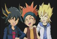 Yusei, Crow and Jack