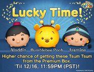 DisneyTsumTsum Lucky Time International AladdinBumblebeePoohJasmine LineAd 20151214