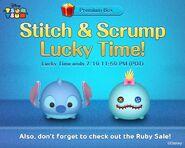 DisneyTsumTsum Lucky Time International Stitch&Scrump LineAd 20150717