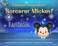 DisneyTsumTsum LimitedTsum International SorcererMickey LineAd 20150801