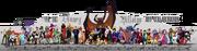 Big disney villains art collab by tavington-d349p3j
