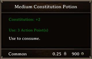 DOS Items Pots Medium Constitution Potion Stats