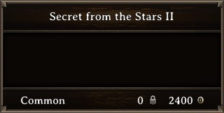 DOS Items Books Secret from the Stars II Stats