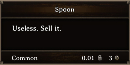 DOS Items Junk Spoon