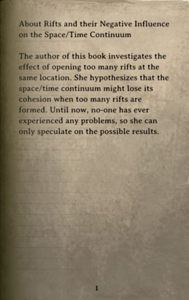 DOS Items Books About Rifts Page