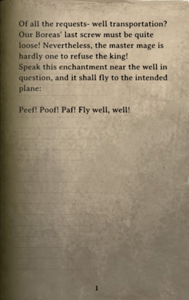 DOS Items Books Well Teleportation Scroll Page