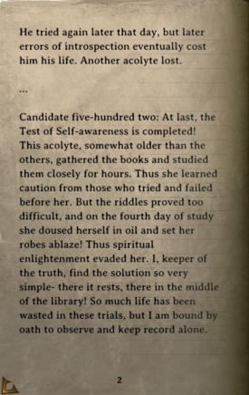 DOS Items Books The Trial of Ascension Logs Page2