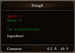 DOS Items Food Dough Stats