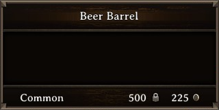 DOS Items Food Beer Barrel Stats